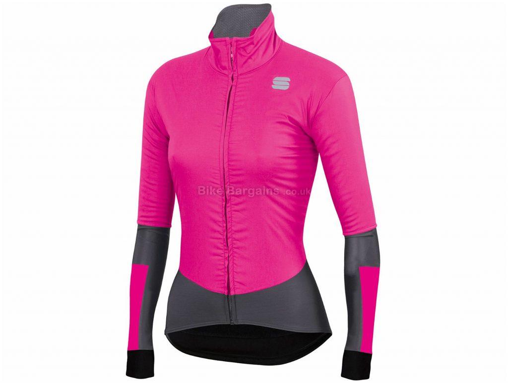 Sportful Ladies Bodyfit Pro Cycling Jacket XXL, Black, Grey, Water-Repellent Fabric, Long Sleeve, Ladies, 248g, Polyester, Elastane