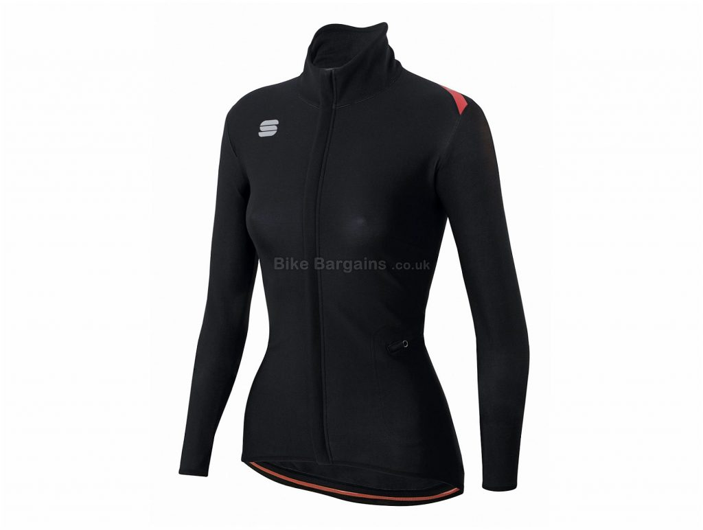 Sportful Ladies Fiandre Light WS Jacket S, Black, Red, Windproof, Ladies, Long Sleeve, Polyester, Elastane