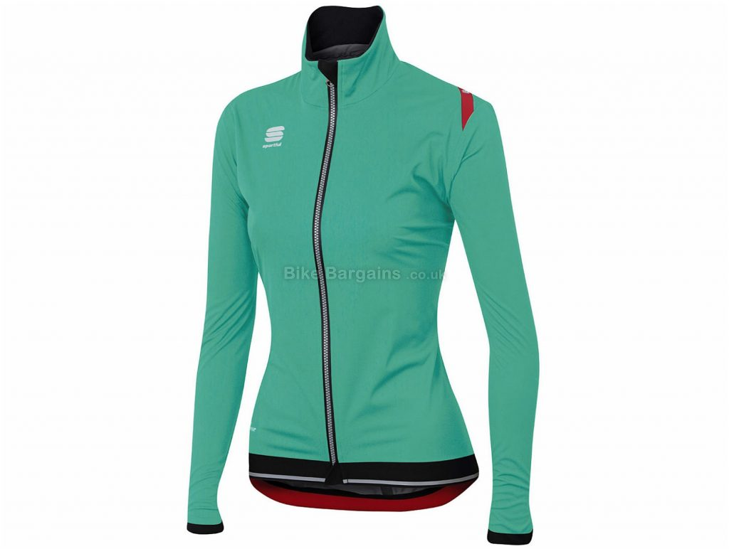 Sportful Ladies Fiandre Ultimate Windstopper Jacket S, Yellow, Black, Breathable, Windproof, Water Repellent, Long Sleeve, Ladies, Polyester