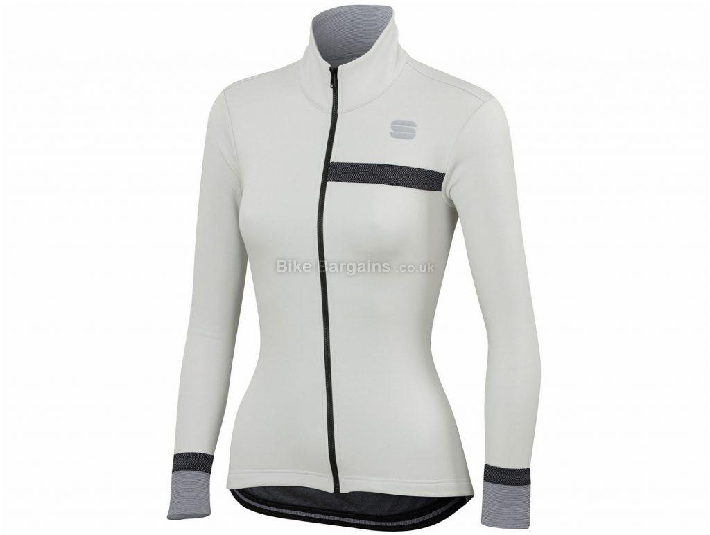 Sportful Ladies Giara Softshell Jacket XS,L, White, Grey, Orange, Windproof Front, Breathable Back, Long Sleeve, Ladies, Polyester, Elastane