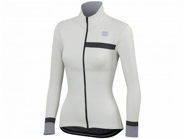 Sportful Ladies Giara Softshell Jacket S, Grey, Windproof Front, Breathable Back, Long Sleeve, Ladies, Polyester, Elastane