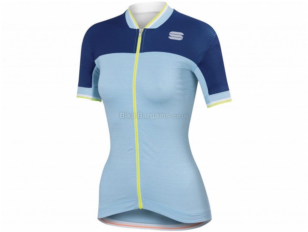 Sportful Ladies Grace Short Sleeve Jersey XL, Blue, Red, White, Short Sleeve, Polyester, Elastane, Ladies