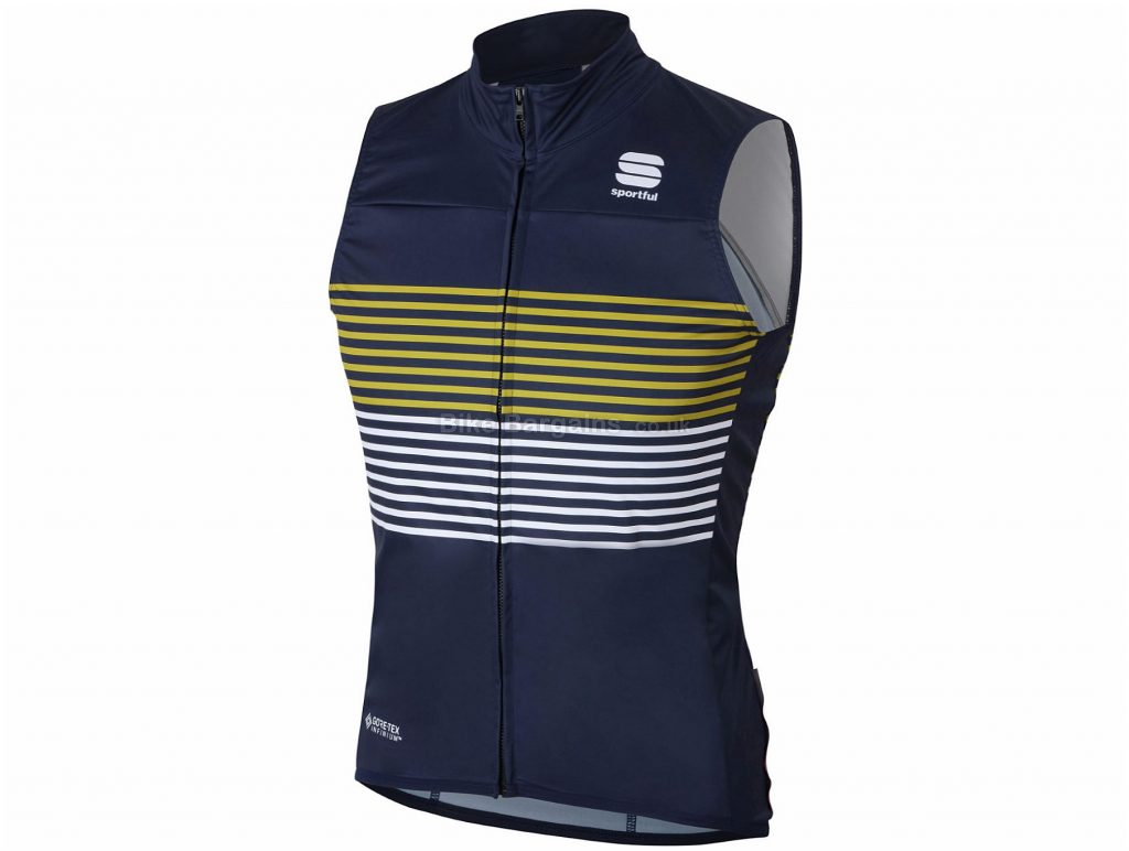 Sportful Spring BodyFit Pro 2.0 Gilet M,L, Blue, Yellow, Medium Wind Protection, Sleeveless, Men's, 136g, Polyester, Elastane