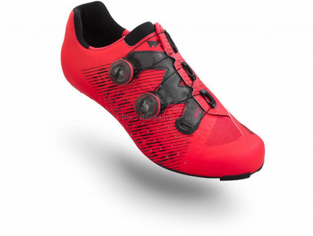 Suplest Edge3 Double BOA IP1 Road Shoes 47, Red, Black, Carbon Sole, weighs 240g, Boa Closure, Road Usage