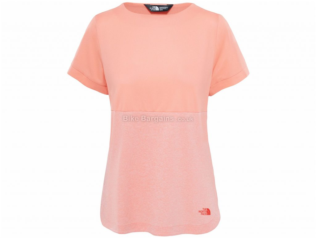 The North Face Ladies Inlux T-Shirt XL, Pink, Wicking Fabric, Short Sleeve, Polyester