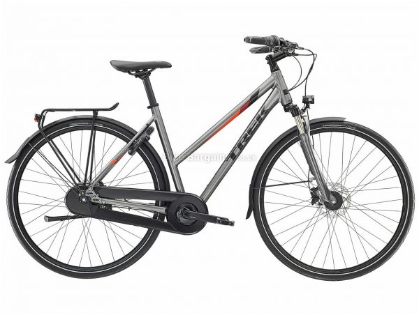 Trek L400 Ladies Alloy City Bike 2019 S,L, Grey, Alloy Frame, Disc Brakes, 7 Speed, Ladies, Nexus Groupset, 700c Wheels, Single Chainring