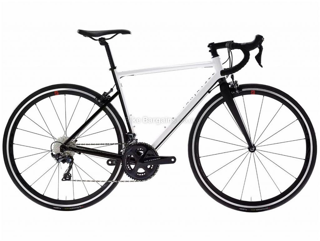 Van Rysel EDR AF Ultegra Endurance Road Bike M, White, Black, Alloy Frame, 22 Speed, Caliper Brakes, Double Chainring, 8.6kg, 700c Wheels