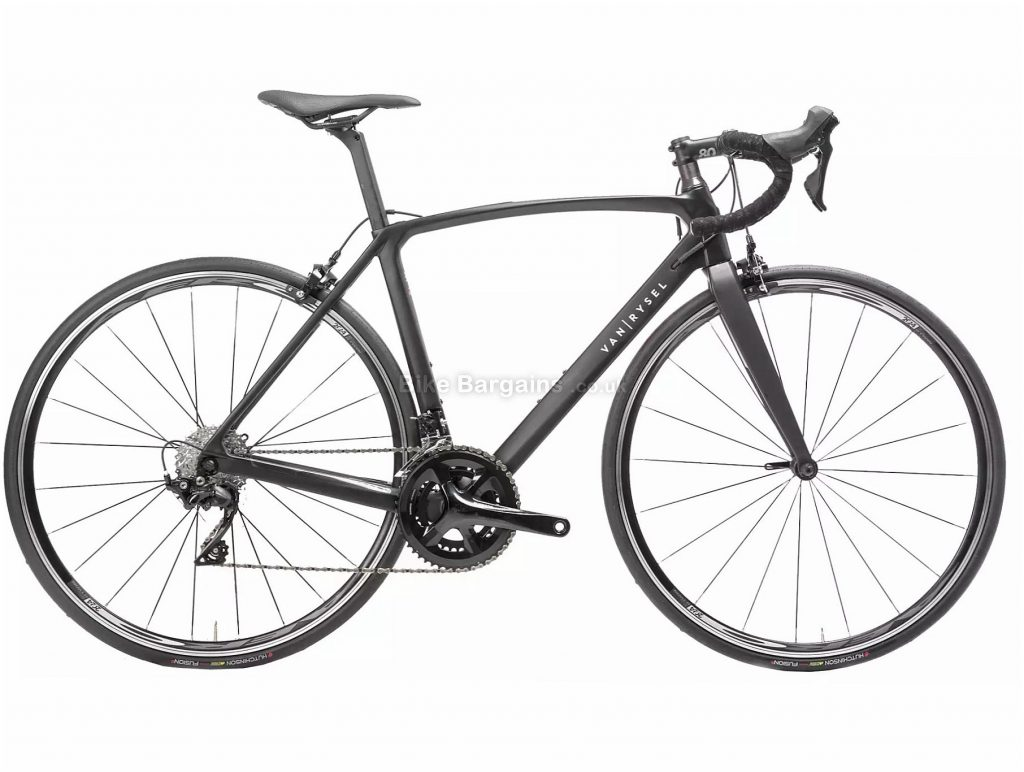 Van Rysel Ladies Ultra RCR CF 105 Road Bike XXS,XS, Black, Carbon Frame, 22 Speed, Caliper Brakes, Double Chainring, 8.3kg, 700c Wheels