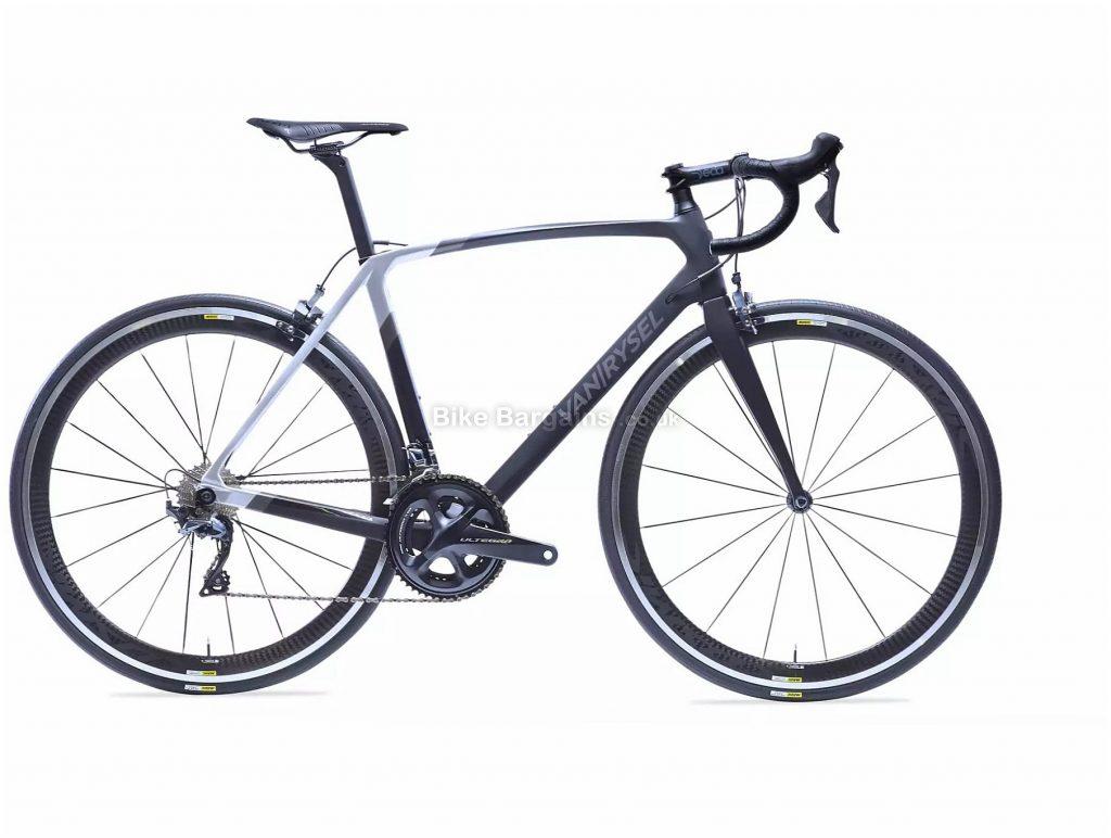 Van Rysel RR 920 CF Carbon Ultegra Road Bike XS,S,M,L,XL, Black, Silver, Carbon Frame, 22 Speed, Caliper Brakes, Double Chainring, 7.6kg, 700c Wheels