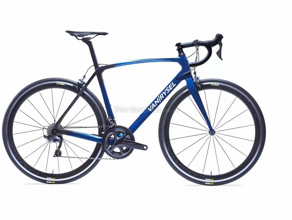 Van Rysel RR 920 CF Carbon Ultegra Road Bike XS, Blue, Black, Carbon Frame, 22 Speed, Caliper Brakes, Double Chainring, 7.6kg, 700c Wheels