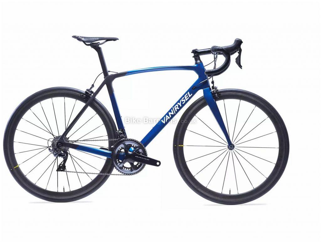 Van Rysel RR 940 CF Carbon Dura-Ace Road Bike XS,S,L,XL, Black, Blue, Carbon Frame, 22 Speed, Caliper Brakes, Double Chainring, 6.85kg, 700c Wheels