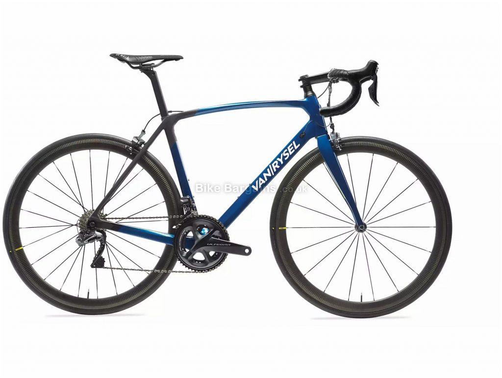 Van Rysel RR 940 CF Carbon Ultegra Di2 Road Bike XS,S,M,L,XL, Blue, Black, Carbon Frame, 22 Speed, Caliper Brakes, Double Chainring, 7.3kg, 700c Wheels