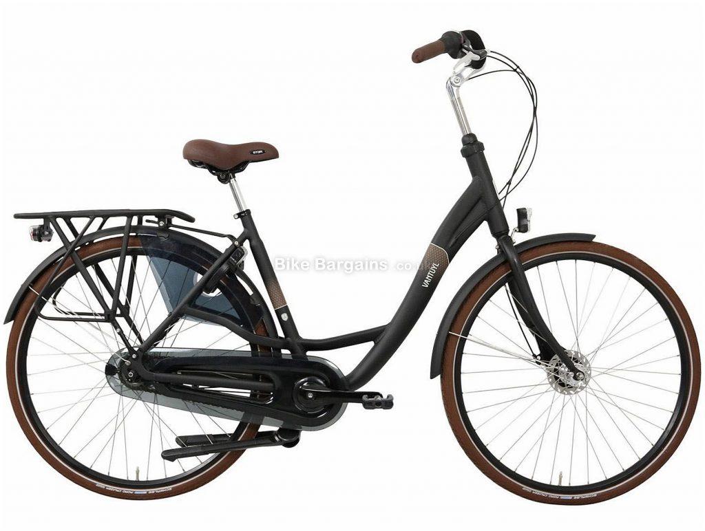 Van Tuyl Donna N8 Dames Ladies Alloy City Bike 2020 50cm, Black, Alloy Frame, 8 Speed, Rigid, Ladies Bike, 23kg