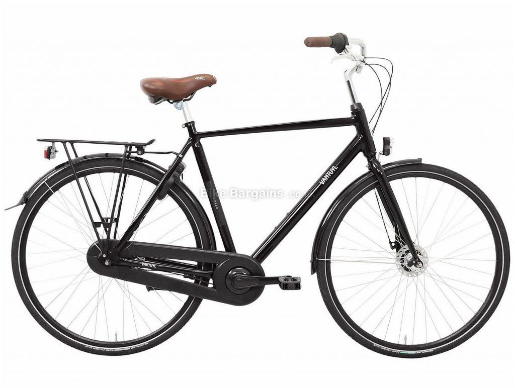 Van Tuyl Lunar N7 Alloy City Bike 2020 53cm,57cm,61cm, Black, Alloy Frame, 7 Speed, Rigid, Men's Bike, 18kg