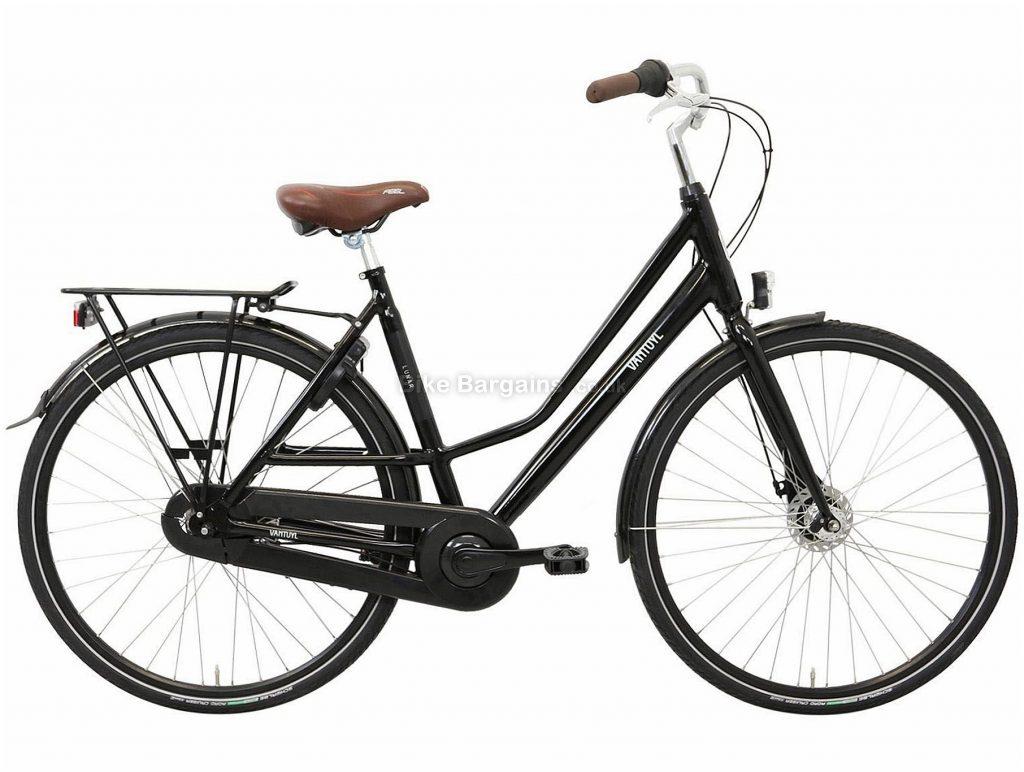 Van Tuyl Lunar N7 Ladies Alloy City Bike 2020 53cm, Black, Alloy Frame, 7 Speed, Rigid, Ladies Bike, 18kg