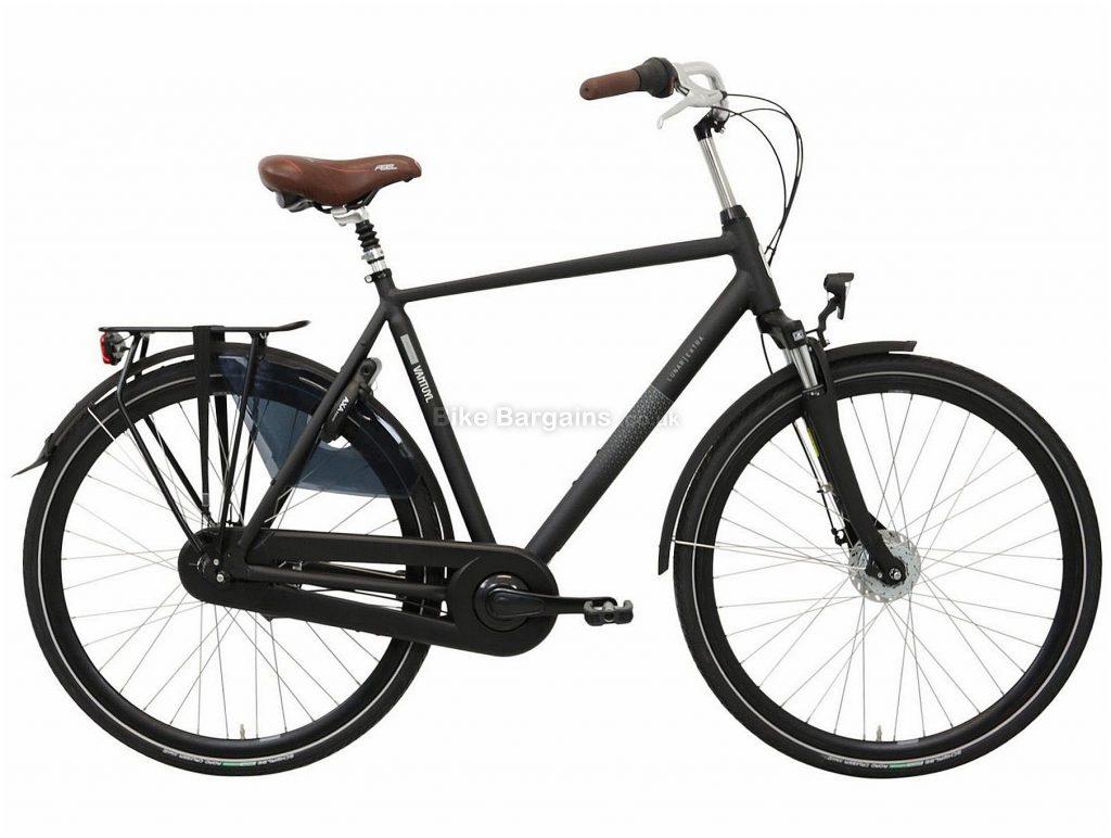 Van Tuyl Lunar N8 Extra Alloy City Bike 61cm, Black, Alloy Frame, 8 Speed, Front Suspension