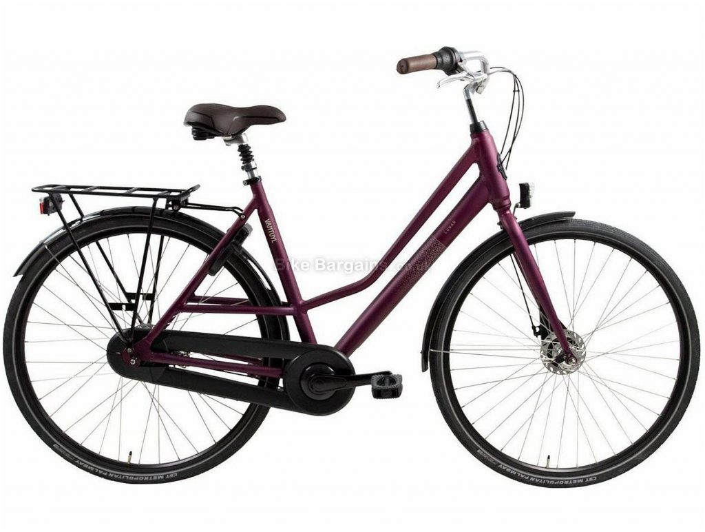 Van Tuyl Lunar N8 Ladies Alloy City Bike 2020 57cm, Purple, Alloy Frame, 8 Speed, Rigid, Ladies Bike, 18kg