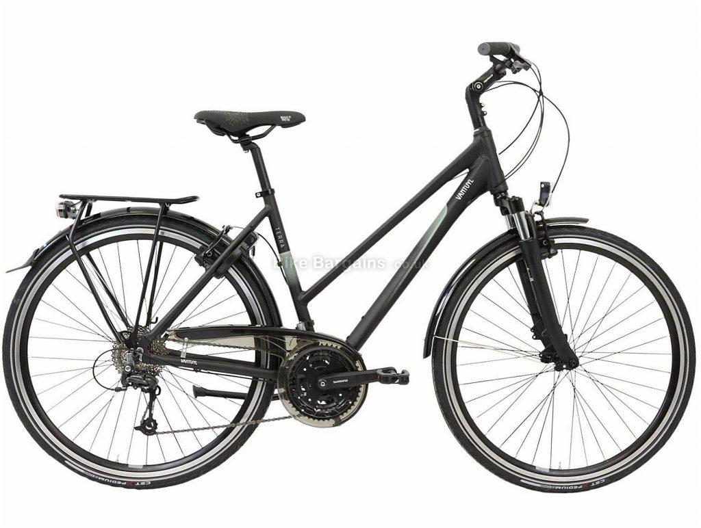 Van Tuyl Terra S27 Ladies Alloy City Bike 2020 50cm, Black, Alloy Frame, Caliper Brakes, 27 Speed, Front Suspension, Ladies Bike, 16.6kg