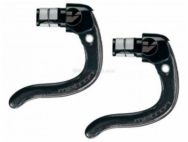 Vision Metron V18 Aero Brake Levers Black, Silver, Front & Rear, Carbon, Alloy, 91g