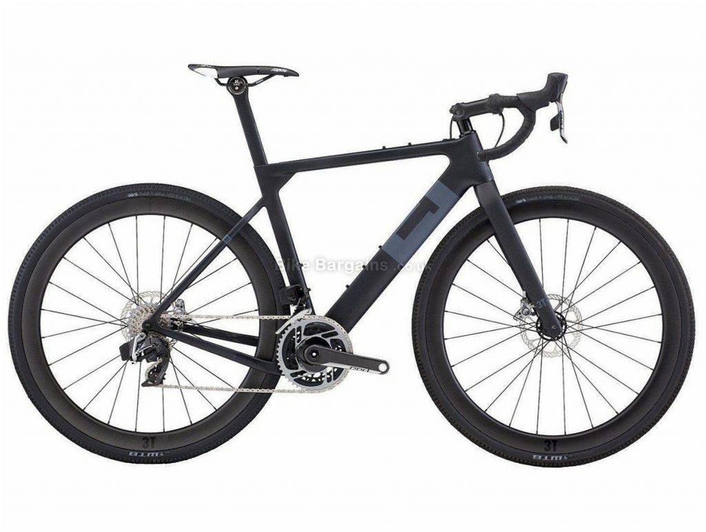 3T Exploro LTD eTap Carbon Gravel Bike XL, Black, Grey, Carbon Frame, Disc Brakes, 24 Speed, 700c Wheels, Double Chainring