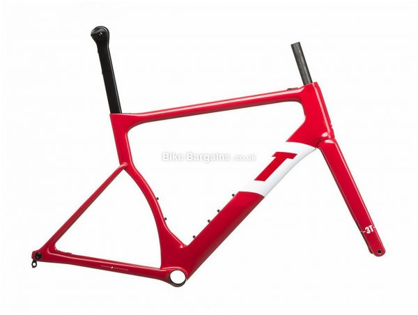 3T Strada Team Carbon Road Frame S, Red, White, Carbon Frame, 700c, Disc, 970g