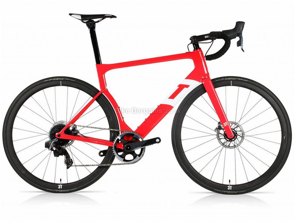 3T Strada Team Red eTap C35 Pro Aero Road Bike 2020 L, Red, Carbon Frame, 700c, Disc Brakes, 12 Speed