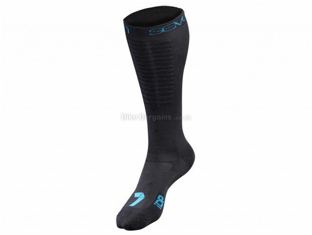 7 iDP Long Socks S,M, Black, Blue