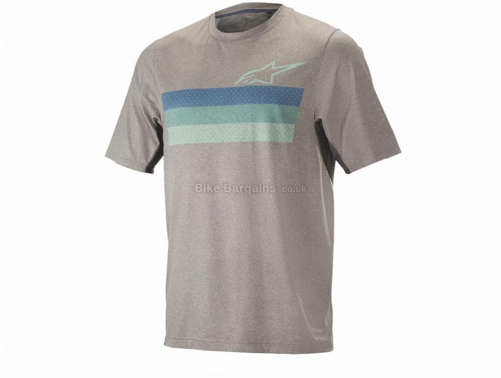Alpinestars Alps 6.0 Short Sleeve Jersey XXL, Grey, Blue, Short Sleeve