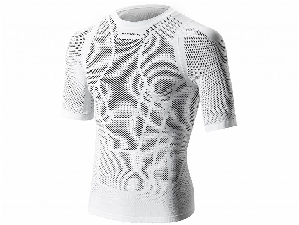 Altura Dry Mesh Short Sleeve Base Layer S,M, White, Short Sleeve