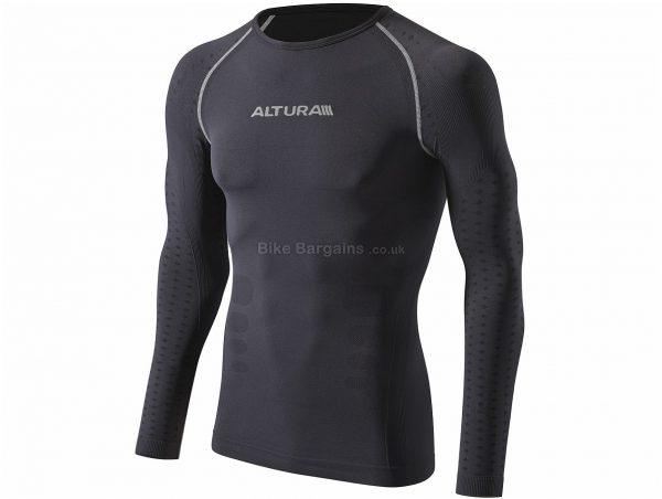 Altura Thermocool Long Sleeve Base Layer S,M, Black, Long Sleeve