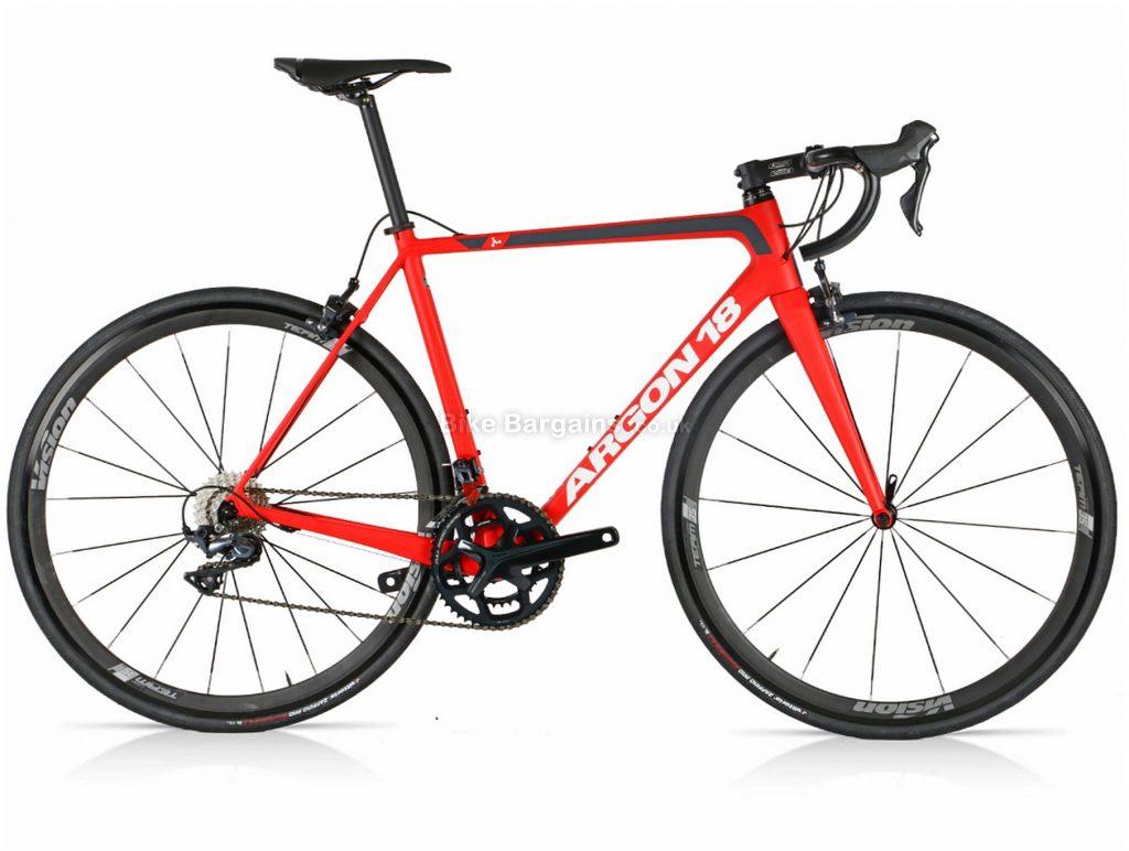 Argon 18 Gallium CS Ultegra Carbon Road Bike M, Red, Black, Carbon Frame, Caliper Brakes, 22 Speed, 700c Wheels, Double Chainring