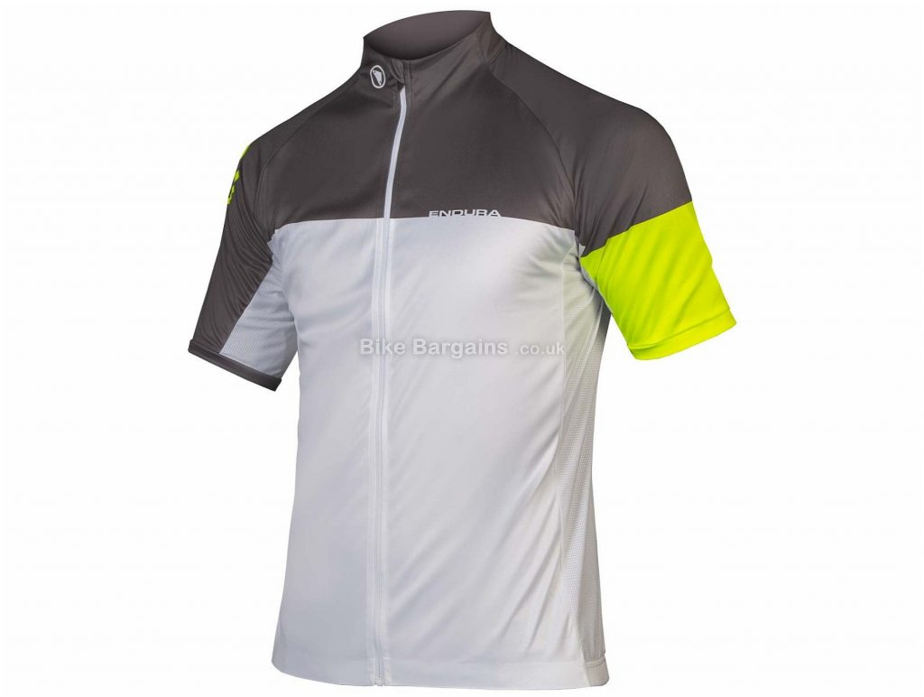Endura Hyperon II Short Sleeve Jersey XS, Blue, Black, White, Yellow