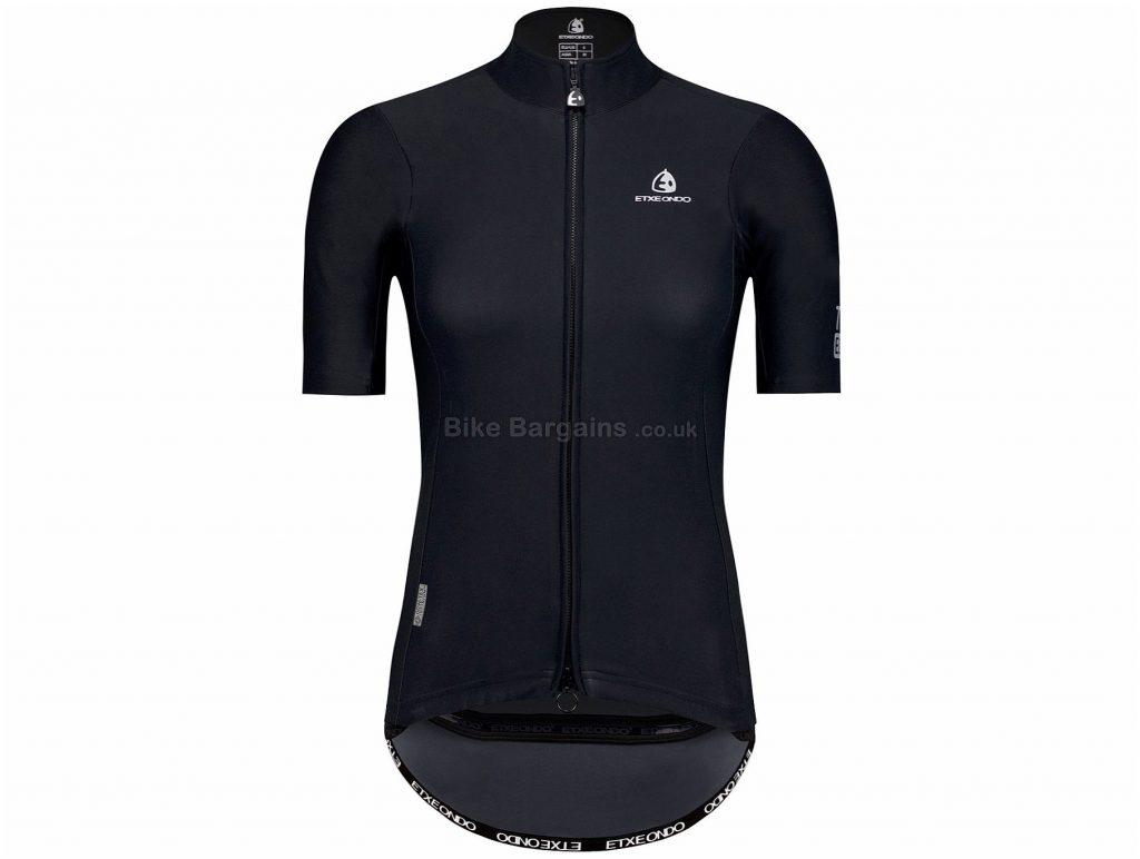 Etxeondo Ladies Dena Jacket S, Black, Short Sleeve, Polyester, Elastane