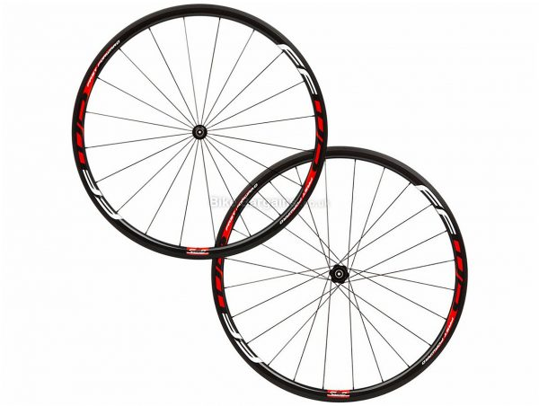 Fast Forward F3R DT Swiss 350 Carbon Road Wheels 700c, SRAM, Shimano, Black, Red, 10/11 Speed, Carbon, 700c, Front & Rear, 1.27kg
