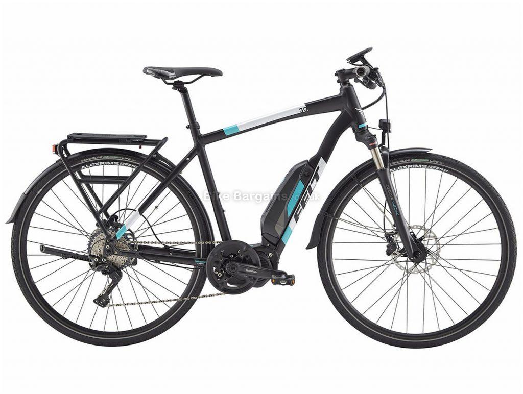 Felt Sport-e 30 EQ Alloy Hybrid Electric Bike 48cm,52cm,55cm, Black, White, Blue, Alloy Frame, Disc Brakes, 11 Speed, 700c Wheels, Single Chainring
