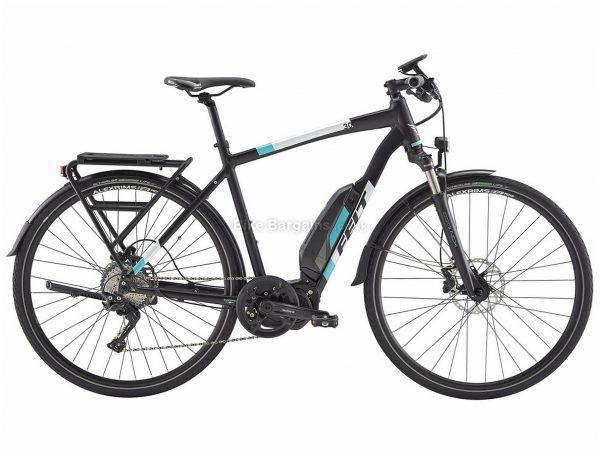 Felt Sport-e 30 EQ Alloy Hybrid Electric Bike 48cm, Black, White, Blue, Alloy Frame, Disc Brakes, 11 Speed, 700c Wheels, Single Chainring