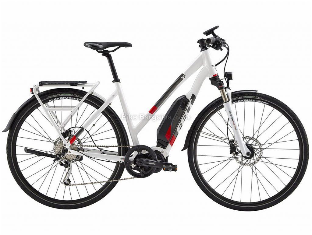 Felt Sport-e 50 EQ Ladies Alloy Hybrid Electric Bike 49cm, White, Red, Black, Alloy Frame, Disc Brakes, 9 Speed, 700c Wheels, Single Chainring