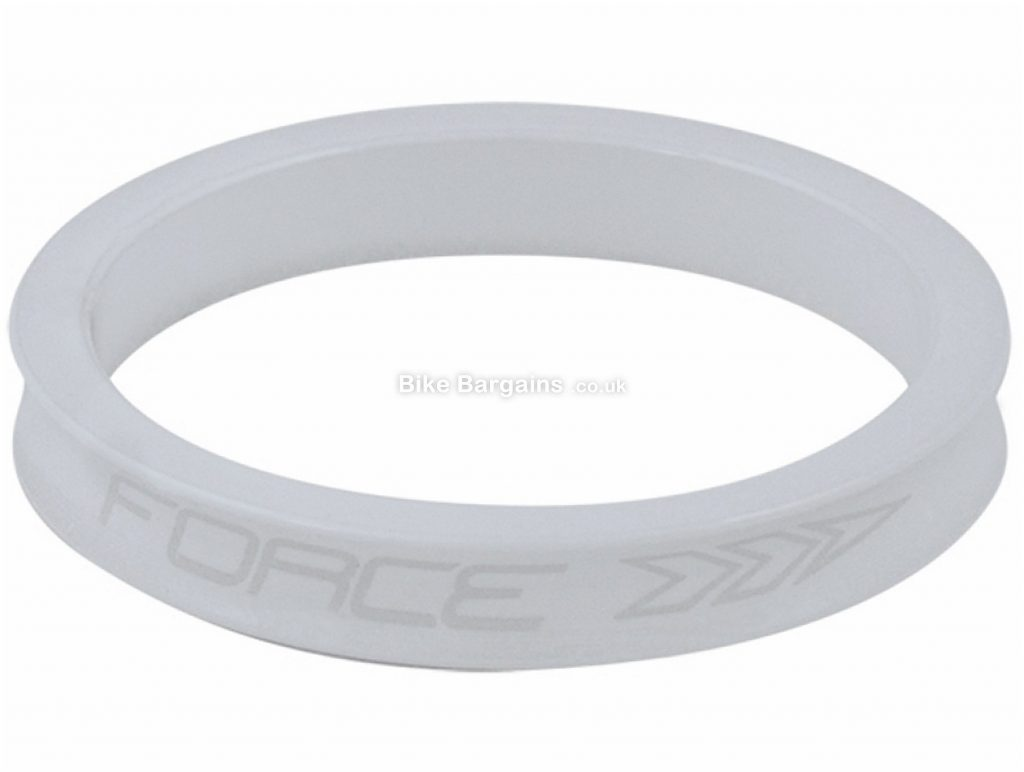 "Force 1 1/8"" Headset Spacers 5mm,10mm,15mm, White, Red, Alloy"