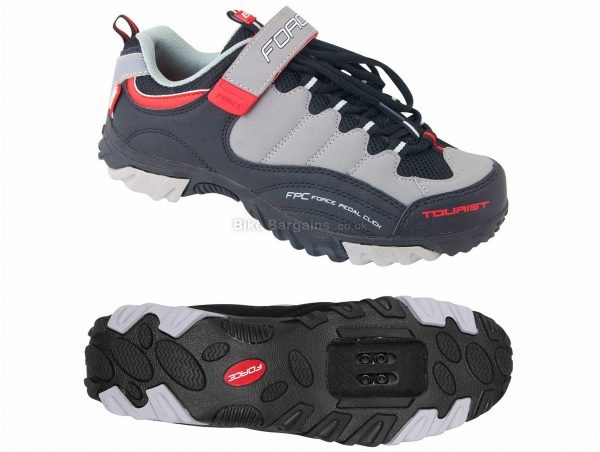 Force Tourist MTB Shoes 40,41, Grey, Black, Red