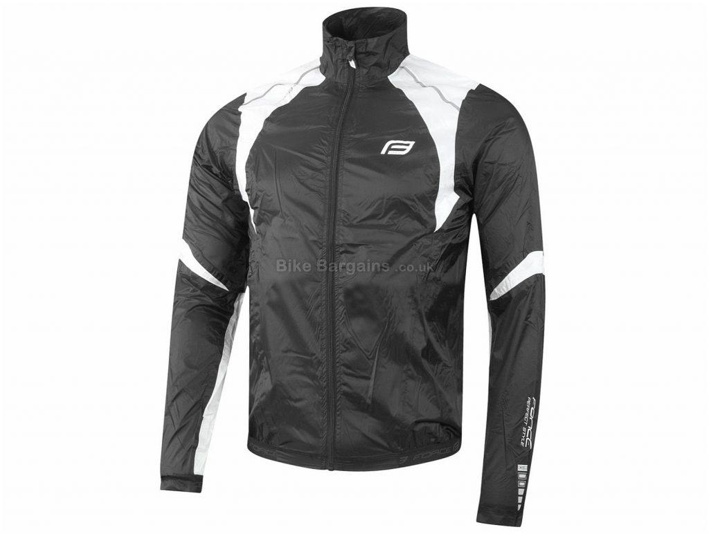 Force X53 Windproof Jacket XS, Black, White