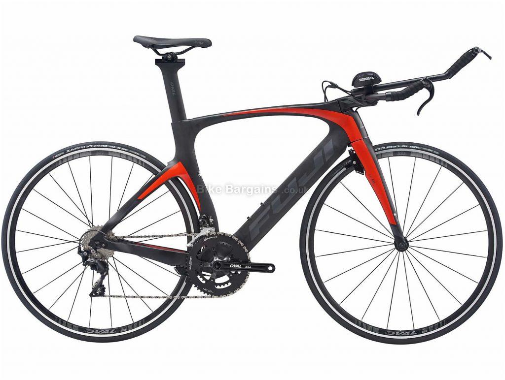 Fuji Norcom Straight 2.3 Carbon TT Road Bike 2020 51cm, Black, Grey, Red, 22 Speed, Carbon Frame, Caliper Brakes, 700c wheels