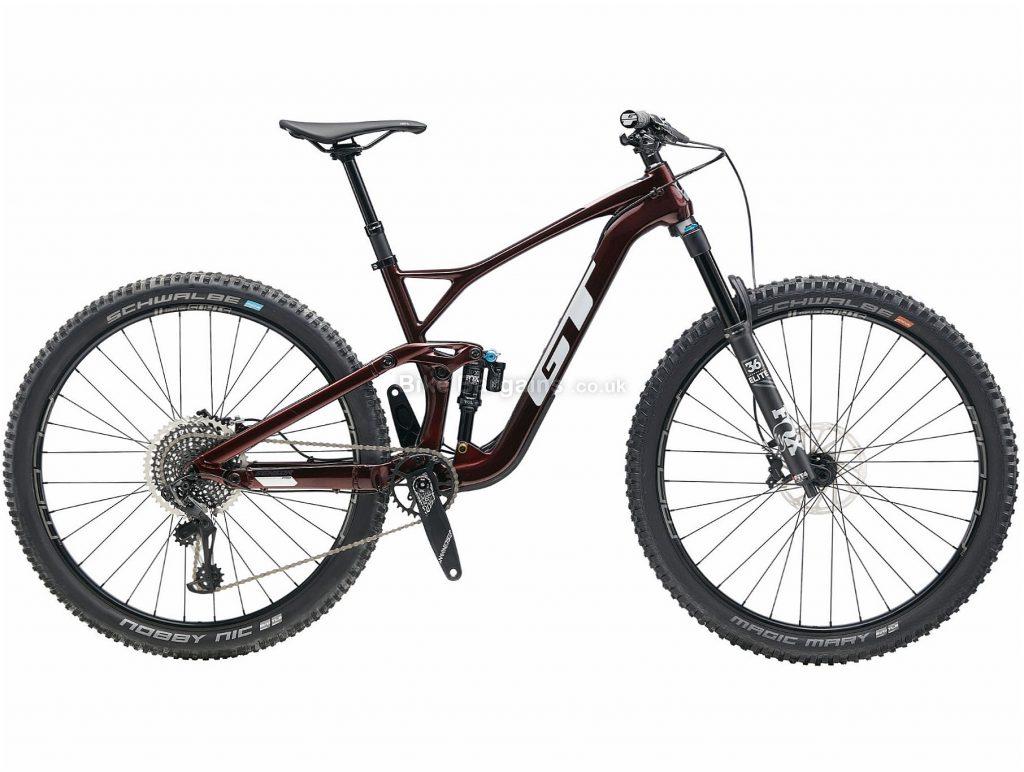 "GT Sensor Carbon Pro 29 Full Suspension Mountain Bike 2020 M, Brown, Black, 12 Speed, Carbon Frame, Disc Brakes, 29"" wheels"