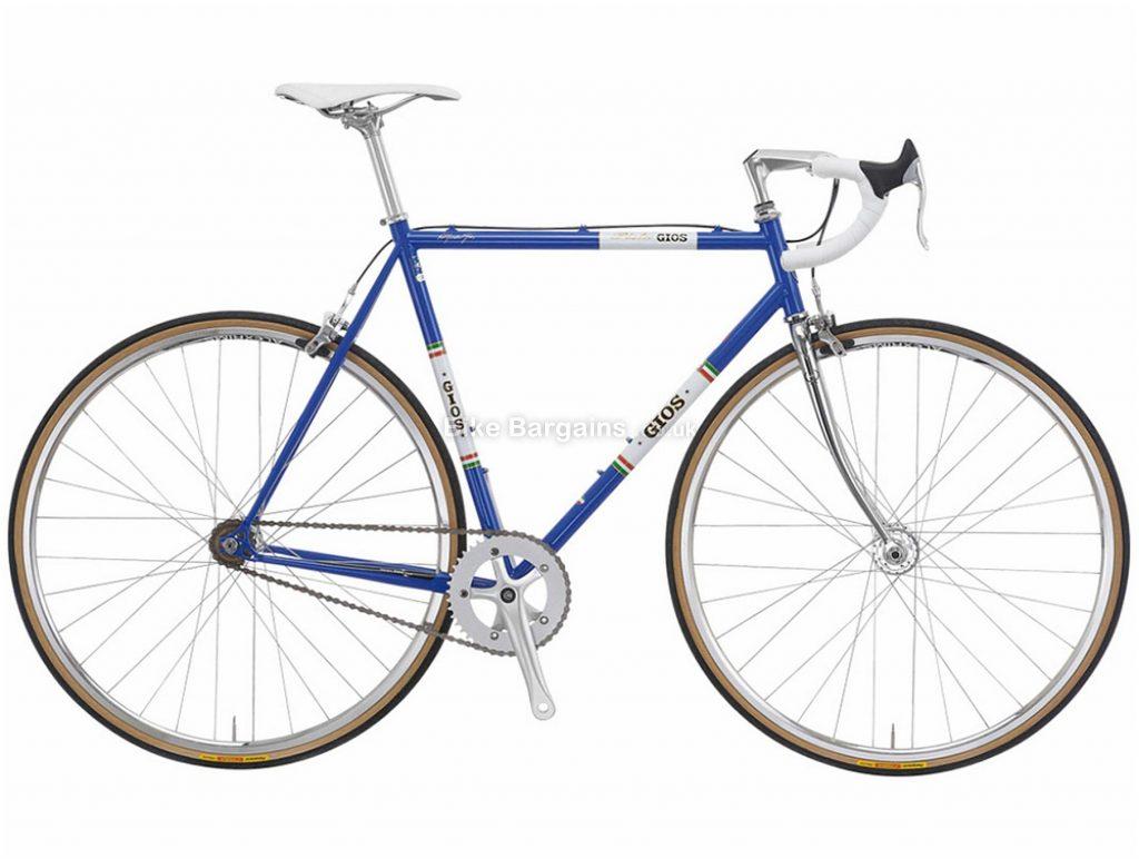 Gios Vintage Pista Single Speed Steel Road Bike 48cm,50cm,52cm, Blue, Green, White, Red, Steel Frame, Caliper Brakes, Singlespeed, 700c Wheels, Single Chainring