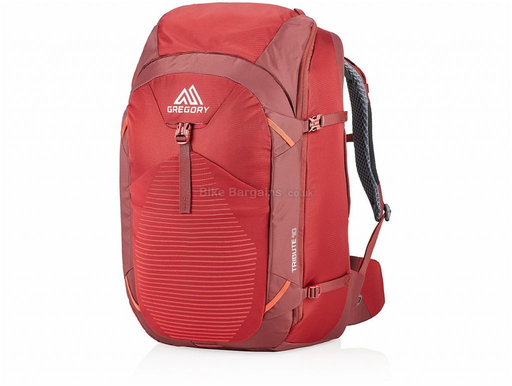 Gregory Tribute 40 Ladies Travel Backpack 29cm, 56cm, 30cm, Red, 40 Litres, 1.38kg