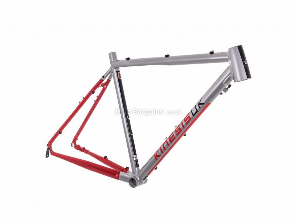 Kinesis Crosslight CX1 Alloy Cyclocross Frame 2018 45cm, Silver, Red, Blue, Alloy Frame, 700c, Disc