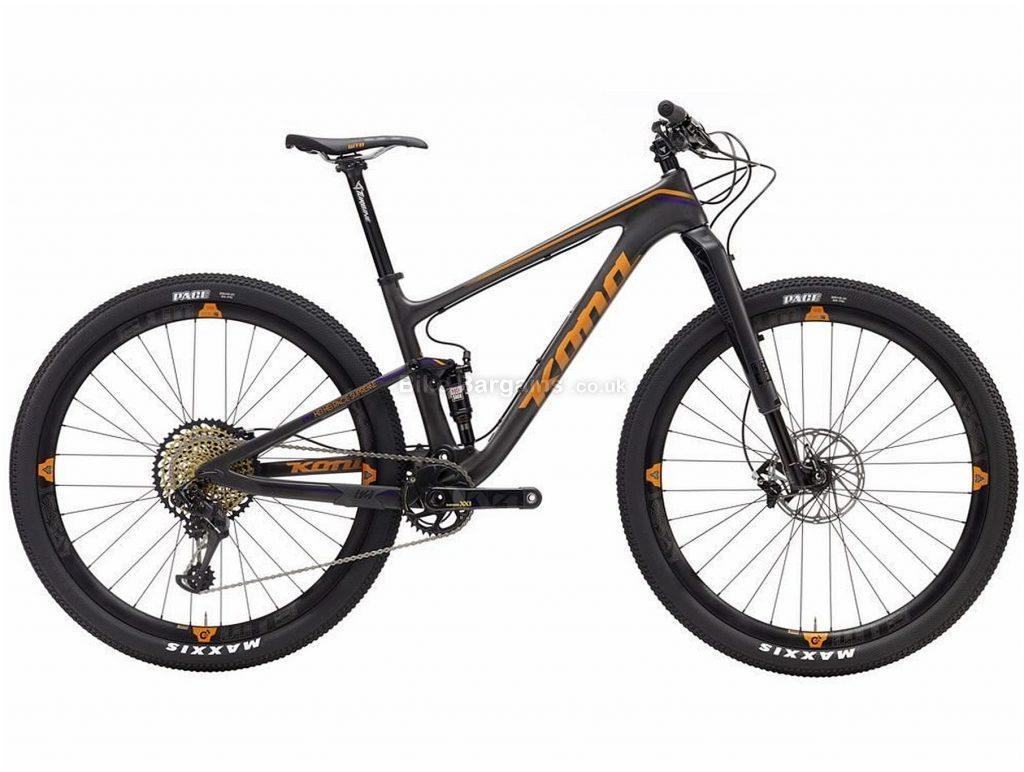 "Kona Hei Hei Race Supreme Carbon Full Suspension Mountain Bike 2017 S,M,L,XL, Grey, Orange, 29"", Disc Brakes, Full Suspension, 12 Speed, Carbon"
