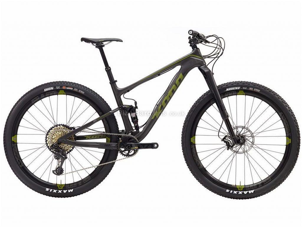 "Kona Hei Hei Supreme Carbon Full Suspension Mountain Bike 2017 M,L,XL, Grey, Green, 29"", Disc Brakes, Full Suspension, 12 Speed, Carbon"