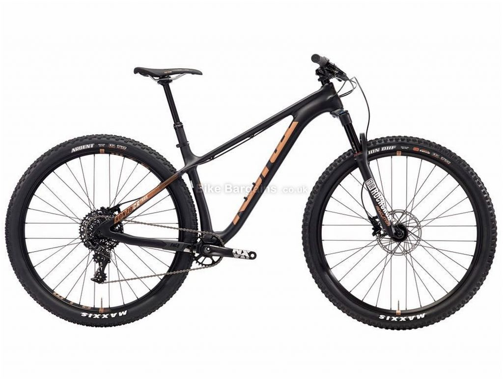 "Kona Honzo Cr Trail Carbon Hardtail Mountain Bike 2018 S, Black, White, 29"", Disc Brakes, Front Suspension, 11 Speed, Carbon"