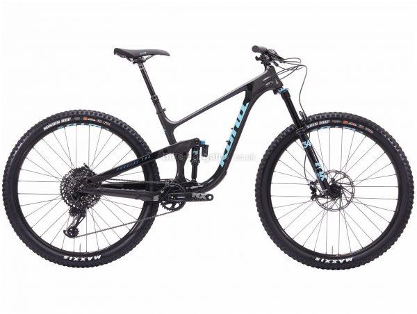 "Kona Process 134 CR 29 Carbon Full Suspension Mountain Bike 2020 L, Black, Grey, Blue, 12 Speed, Carbon Frame, Disc Brakes, 29"" wheels"