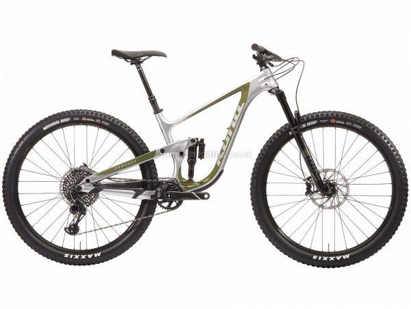 "Kona Process 134 CR / DL 29er Carbon Full Suspension Mountain Bike 2020 S,M,L,XL, Silver, Green, 12 Speed, Carbon Frame, Disc Brakes, 29"" wheels"